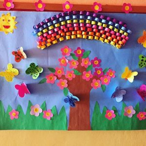spring bulletin board idea for preschoolers