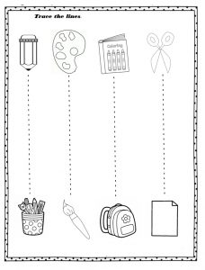 Free printable back to school worksheet