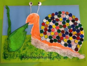 bottle cap snail craft