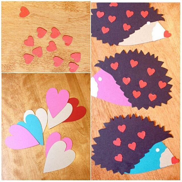 heart hedgehog craft