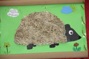 hedgehog bulletin board idea