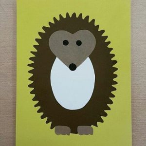 hedgehog craft idea for kids (3)
