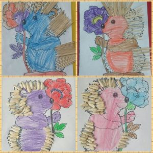 hedgehog craft idea for kids (4)