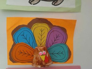 paper cup turkey craft