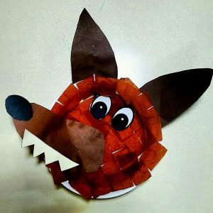 paperplate wolf craft idea for kids (1)