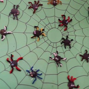 walnut-shell-spider-bulletin-board-idea-1