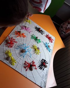 walnut-shell-spider-bulletin-board-idea-3