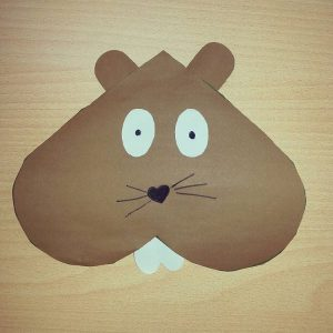 Heart Beaver Craft X on musical instruments craft idea for kids