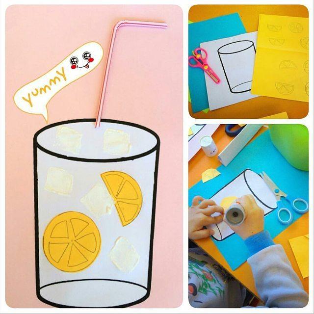 Lemonade Craft Idea For Kids 4 on Preschool Human Body Activities
