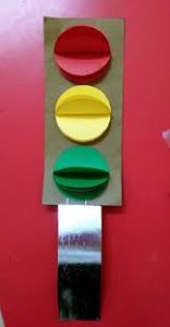 Traffic light craft idea for kids