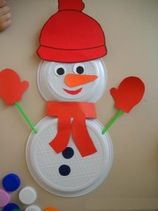 free-paper-plate-snowman-craft-idea