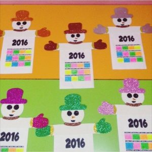 snowman-calender-craft-idea-for-kids-1