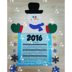 snowman-calender-craft-idea-for-kids-3