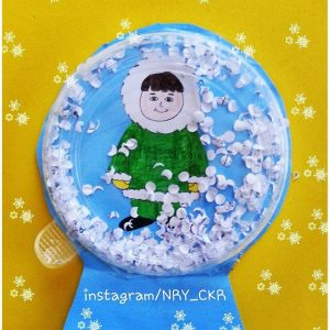 yogurt-cup-snow-globe-craft