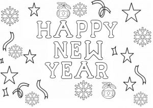 new year coloring pages for preschoolers | Happy new year coloring page | Crafts and Worksheets for ...