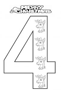 number-4-coloring-page