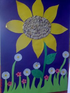 sunflower-bulletin-board-idea