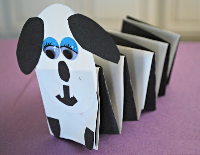 accordion dog craft idea