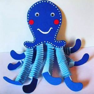 Accordion Octopus Craft Idea X on kindergarten ladybug worksheet images