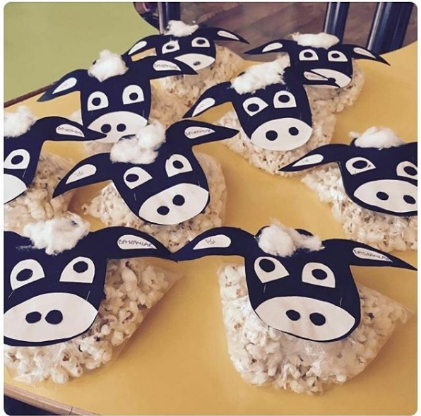 pop corn cow craft