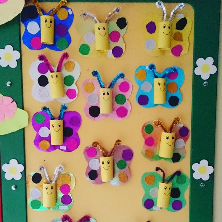 Toilet Paper Roll Butterfly Craft Idea Crafts And