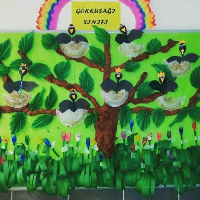 crow bulletin board idea for preschoolers