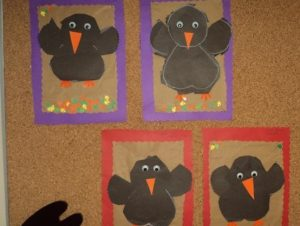Crow craft idea for kids Crafts