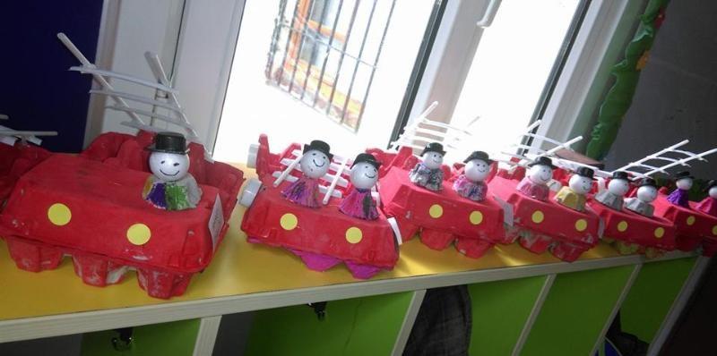 eeg carton fire truck craft idea