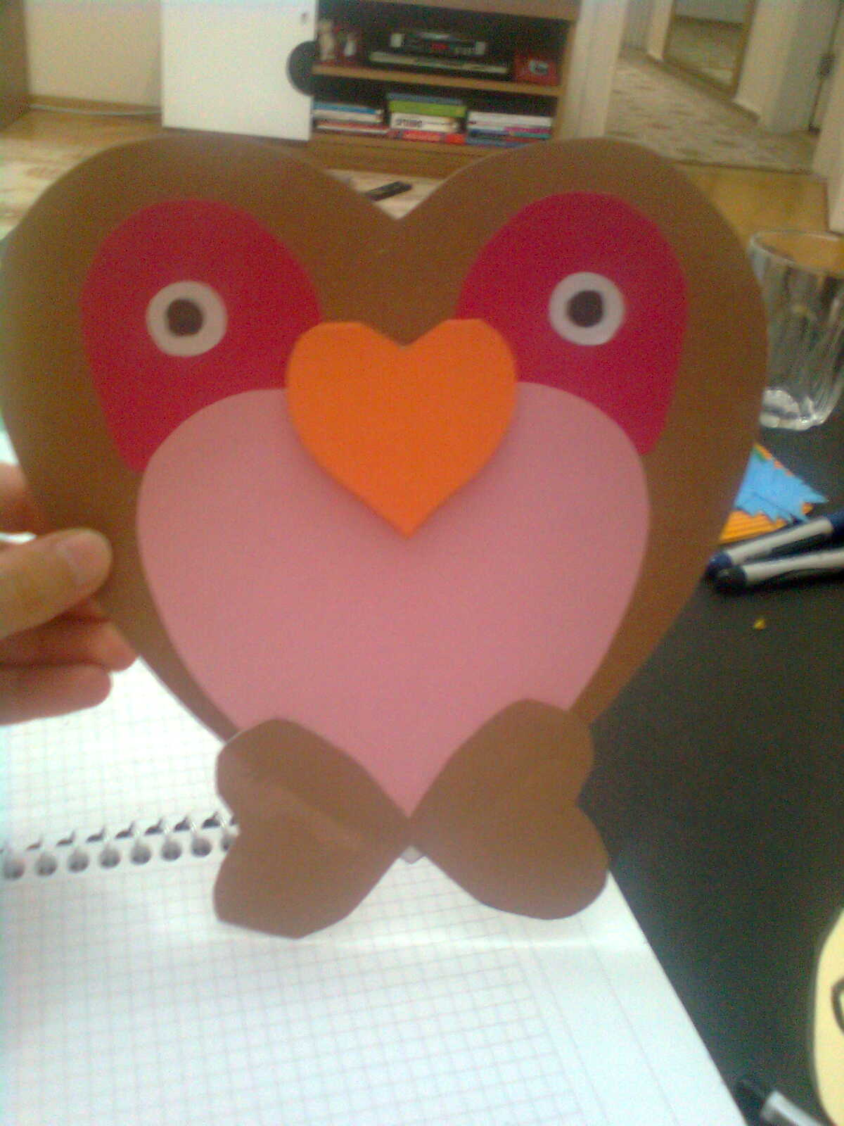 heart owl craft