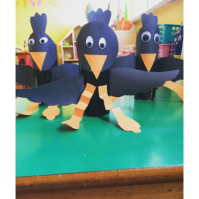 toilet paper roll crow craft