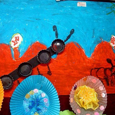 bottle cap ant craft