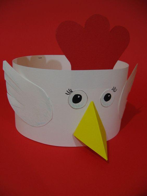 chicken headband craft