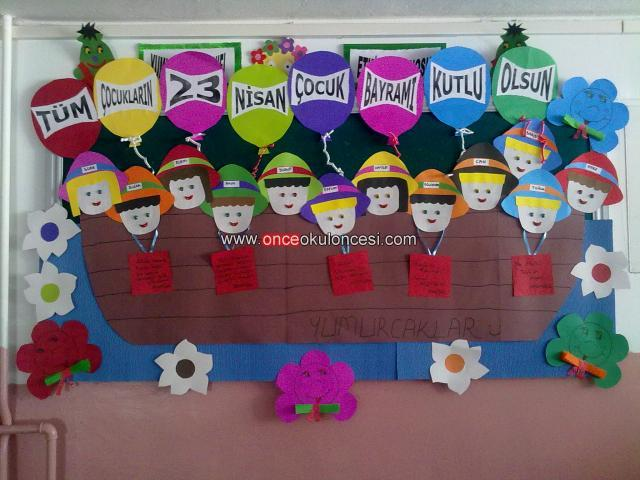 children's day bulletin board idea (6)