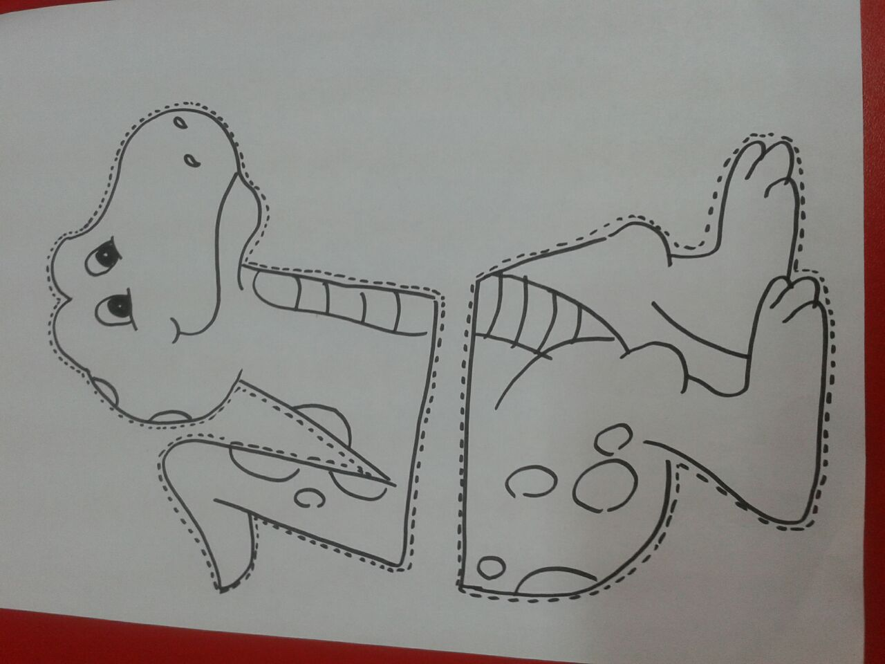 life of cycle dinosaur craft with template(1)