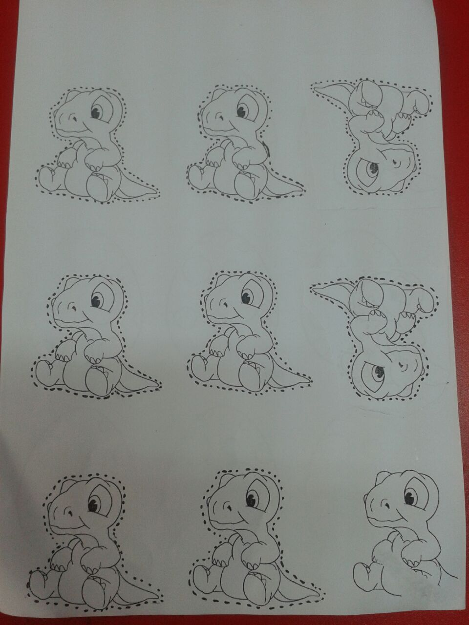 life of cycle dinosaur craft with template(6)