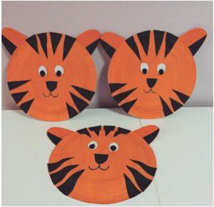 Paper plate animals craft idea