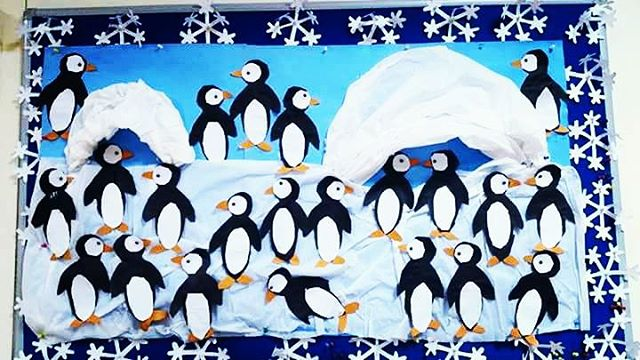 penguin bulletin board idea for kids