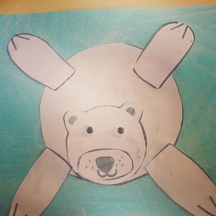 polar bear craft idea for kids (2)