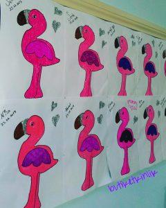 Flamingo craft idea for kids