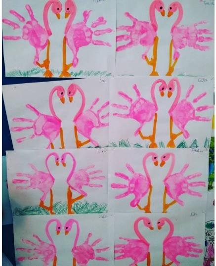 handprint-flamingo-craft-idea