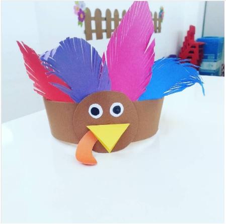 turkey head band craft idea