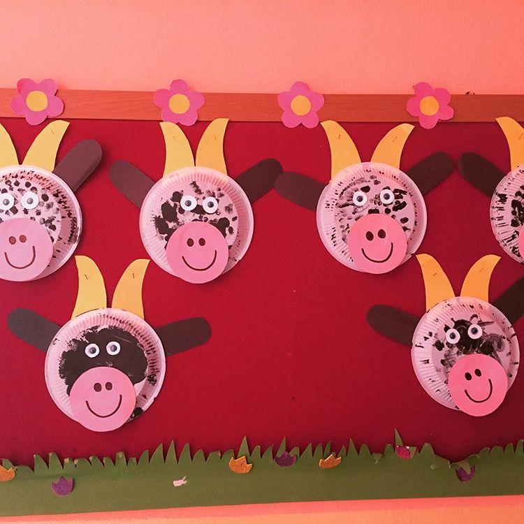 paper plate cow craft idea