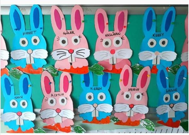 bunny craft idea for preschool