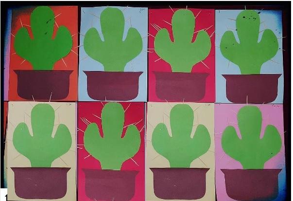 cactus craft for kindergarten