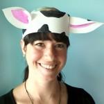 Cow ear hat craft