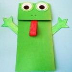 Frog Paper Bag Puppet Crafts Project