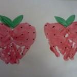 Handprint strawberries
