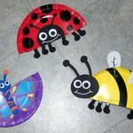 Minibeast ideas using paper plates