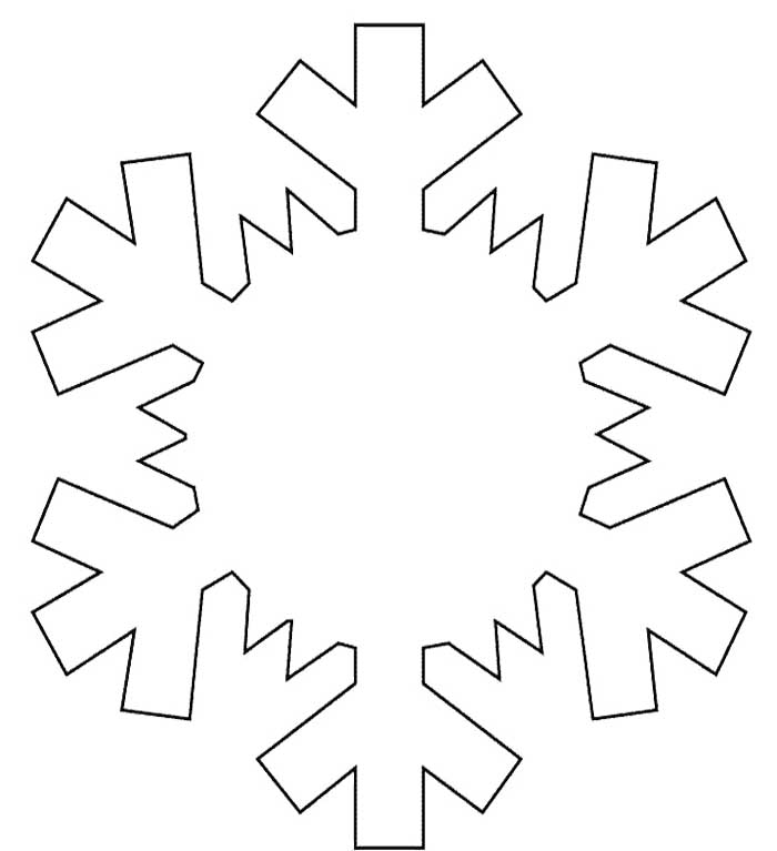 Pictures Of Snowflake Coloring Page