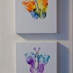 Rainbow Butterfly Footprint